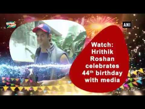 Hrithik Roshan's  44th Birthday Celebrations with Media | VISUALS