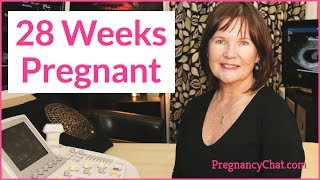 """""""28 Weeks Pregnant"""" by PregnancyChat.com @PregChat"""