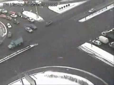 Niebezpiecznie skrzyżowanie w Petersburgu