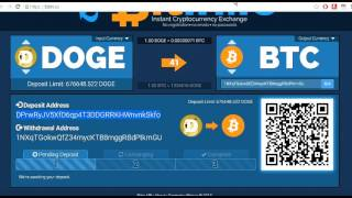 Hot to Exchange Dogecoin to Bitcoin