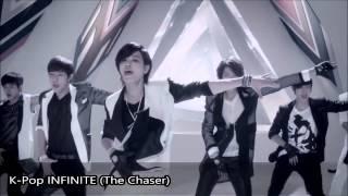 K-поп vs J-поп корейская группа парней и девушек