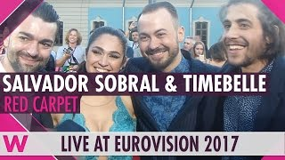 Salvador Sobral and Timebelle (Interview) @ Eurovision 2017 Opening Ceremony Red Carpet