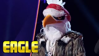 Masked Singer Eagle performance  | These Boots Are Made For Walkin  & REVEAL  | Season 2 Episode 3