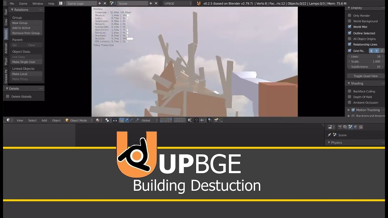 building destruction   Upbge tutorial