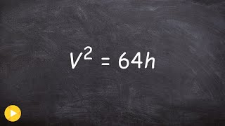 ALg2 Unit 5 Learn how to solve a word problem using square roots, velocity and distance