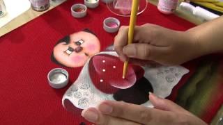 Aprenda a fazer uma belíssima pintura em tecido, com tema Joaninha