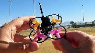 dustX58 Tinyfish Brushless Micro FPV Drone Flight Test Review