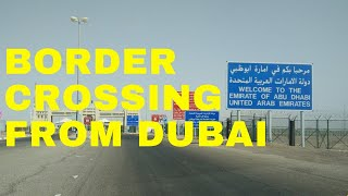 Procedure for Crossing the Border Between Dubai and Abu Dhabi