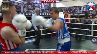 3-е рейтинговые бои Лига бокса г. Москвы – 04.11.17 г. до 64 кг.