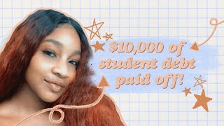 How I paid off my SALLIE  MAE Loan on a Minimum Wage Salary | Simple Tips   ✨✨