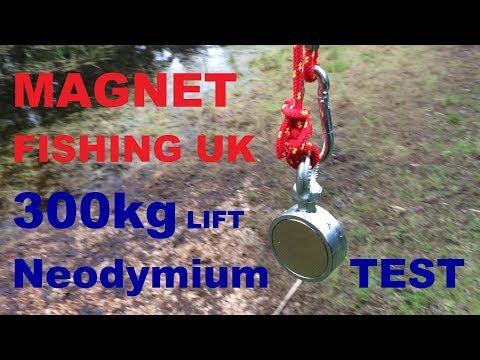 Magnet Fishing UK 2018 Testing 300kg Neodymium from Magnetons Magnets
