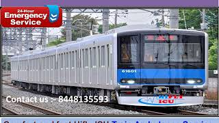 Get Best Price Train Ambulance Service from Surat to Mumbai By Hifly ICU