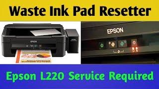 Epson L210 waste ink pad reset key Printer Drivers