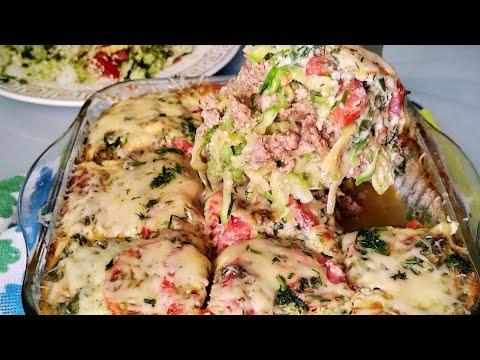 Запеканка из кабачков, на ужин /Вкусный, сытный и простой рецепт