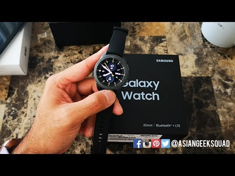Unboxing and Setup - Samsung Galaxy Watch (42mm - Black - TMobile LTE)
