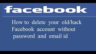 How to delete the old account without password and email