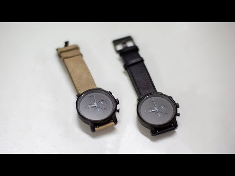 MVMT Watch, Chrono Gunmetal Sandstone + Black : Unboxing (ASMR)