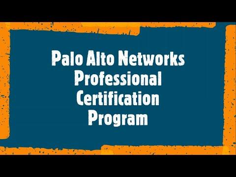 Palo Alto Networks Professional Certification Program - YouTube