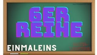 6er Reihe des Einmaleins – Lernvideo für Kinder