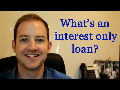 Video What is an interest only mortgage loan?