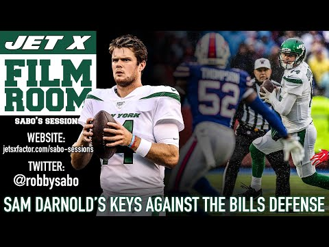 New York Jets Film Room: Sam Darnold's Keys Against The Buffalo Bills Defense   Sabo's Sessions