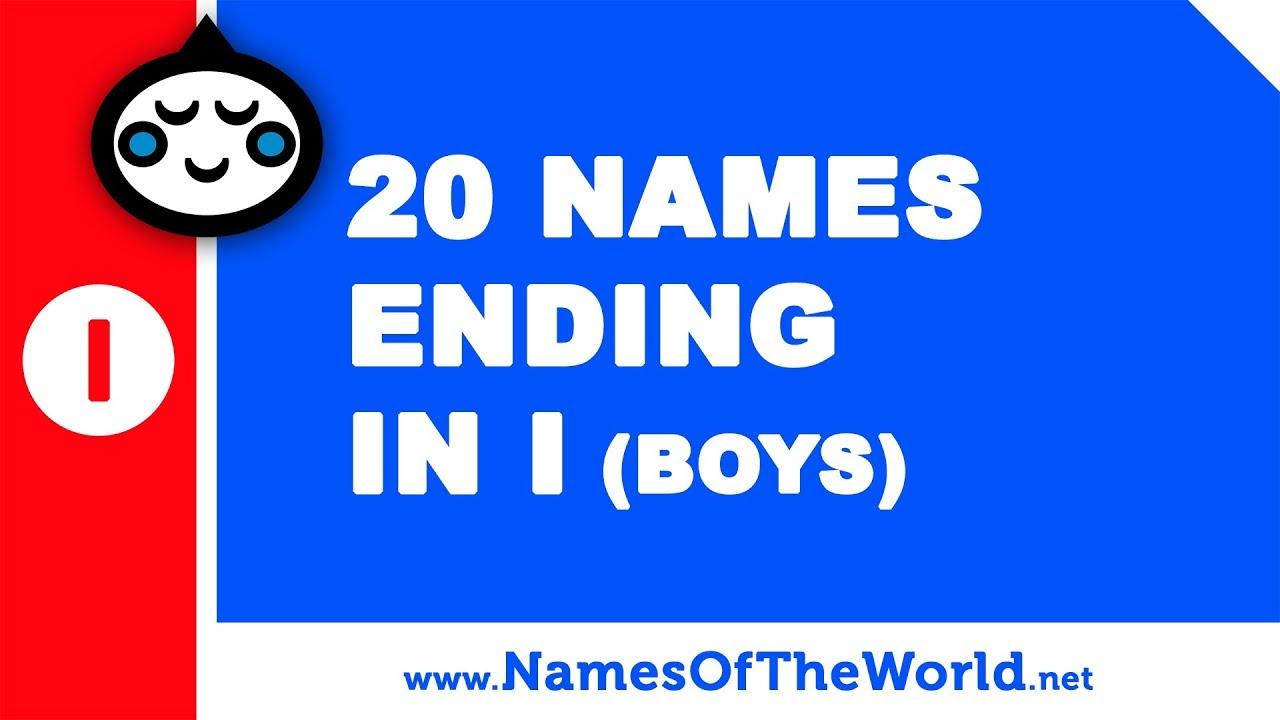 20 boy names ending in I - the best baby names - www.namesoftheworld.net