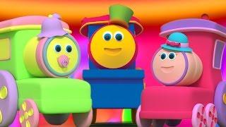 รถไฟบ๊อบ | ครอบครัวนิ้ว | เพลงโรงเรียนอนุบาล | Bob The Train | Finger Family Song | Baby Rhyme