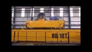 80-10 Ton Double Girder Overhead Crane, EOT Cranes Load Testing
