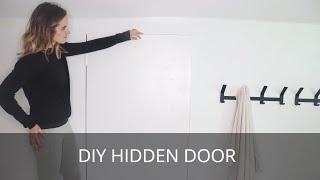 How To Make A Hidden Door   DIY Minimalistic Trimless Door