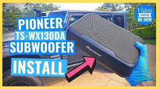 Pioneer TS-WX130DA Compact Slim Active Subwoofer - INSTALL (2/3 Install Series)