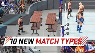 WWE 2K18 Top 10 New Custom Match Types | Kholo.pk
