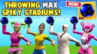 *NEW* SQUAD THROWS MAX SPIKY STADIUMS! - Fortnite Funny FAILS & WINS #23