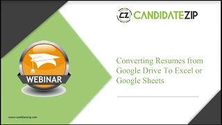 CandidateZip Conducts its First Product Demo Webinar