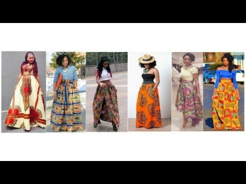 Ankara Maxi Skirt and Blouse Styles