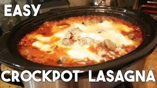 BEST Slow Cooker Lasagna | Easy