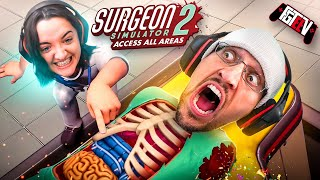 DON'T TRUST MY SISTER! Surgeon Simulator 2 w/ MODS! (FGTeeV Access All Areas Gameplay)