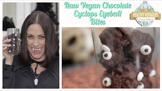 Vegan Raw Chocolate Cyclops Halloween Eyeballs Recipe