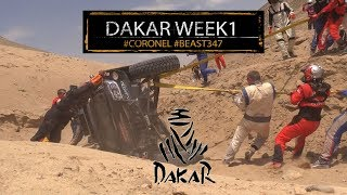 Dakar week 1 highlights for Tim and Tom Coronel in the Jefferies Score buggy
