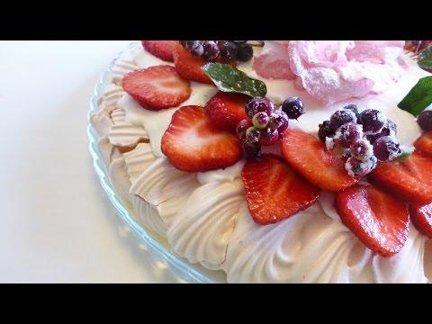 Десерт\торт  Анна Павлова.История.Как приготовить. \ Dessert Pavlova