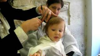 Sofia's first haircut