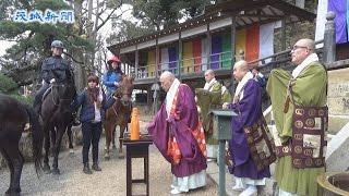 馬も安全願う桜川の雨引観音