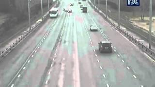Авария на Октябрьском мосту в Череповце (видео)