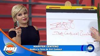 ¿Qué Revela La Firma De Itatí Cantoral? | Grafotest | Hoy