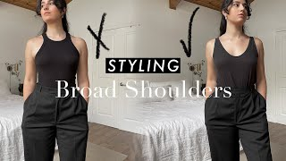 How to Style Broad Shoulders & Create BALANCED Outfits