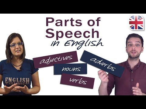9 Parts of Speech in English - English Grammar Lesson