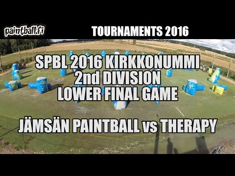 Jämsän Paintball vs Therapy - Lower Final - SPBL2016 Kirkkonummi