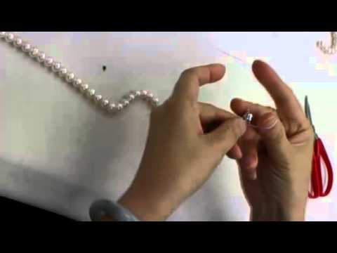 Сборка ожерелья из жемчуга. Часть 1
