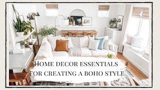 Home Decor Essentials For Creating A Boho Style | Home Blogger | My Modern Boho Farmhouse Style