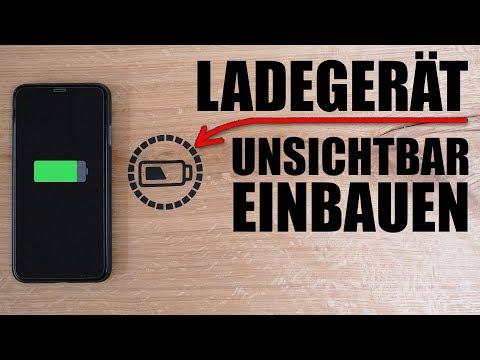Ladegerät (KONTAKTLOS) in Tisch einbauen - Dein Handy wird induktiv geladen!