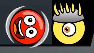 Новый КРАСНЫЙ ШАР #2. 4-6 УРОВНИ. Мультик ИГРА New Red Ball 2